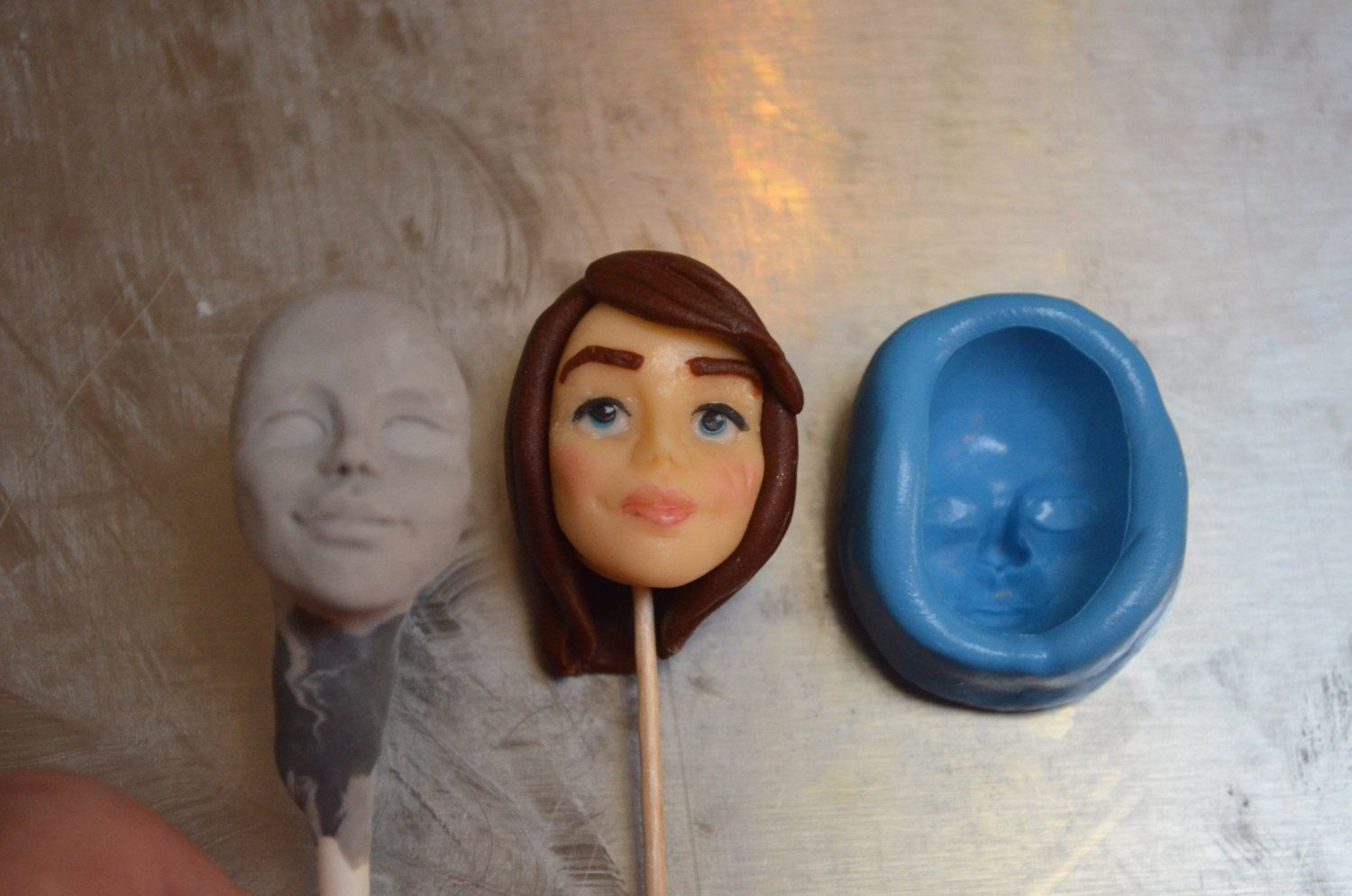Food safe silicone face mold by artisancakecompany on Etsy, $25.00