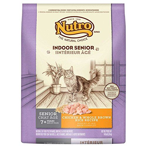 Natural Choice Indoor Senior Cat Chicken And Whole Brown Rice Formula Food 14pound You Can Find Out More Details At Th Senior Cat Food Cat Food Dry Cat Food