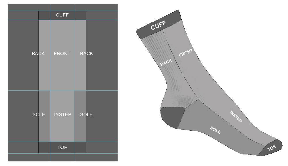 Download Design Socks With Free Templates And Illustrator Ktsox Fashion Design Template Design Your Own Socks Designer Socks