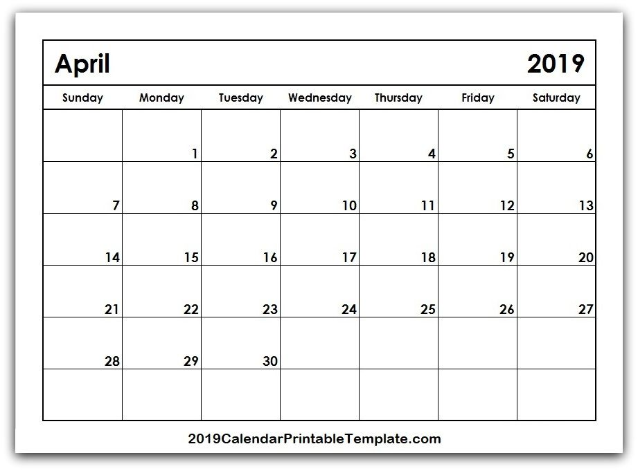 Pin By 2019calendarprintabletemplate On April 2019 Calendar