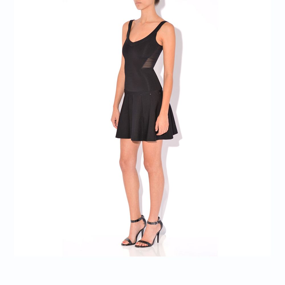 Lend your evening look some instant drama with a woven LBD. The incredible fit & flare takes this piece straight to the top of our wish list. Exposed zipper Sheer back $229