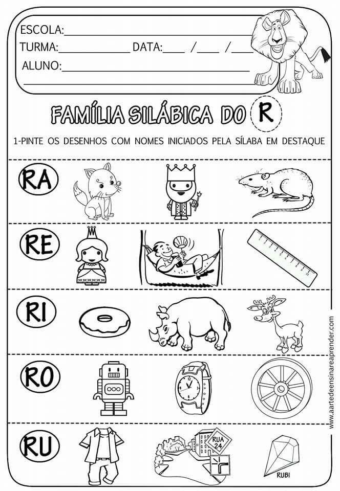Pin De Liliana Argueta Em Atividades Escolares Atividades Com A Letra R Atividades De Alfabetizacao Atividades