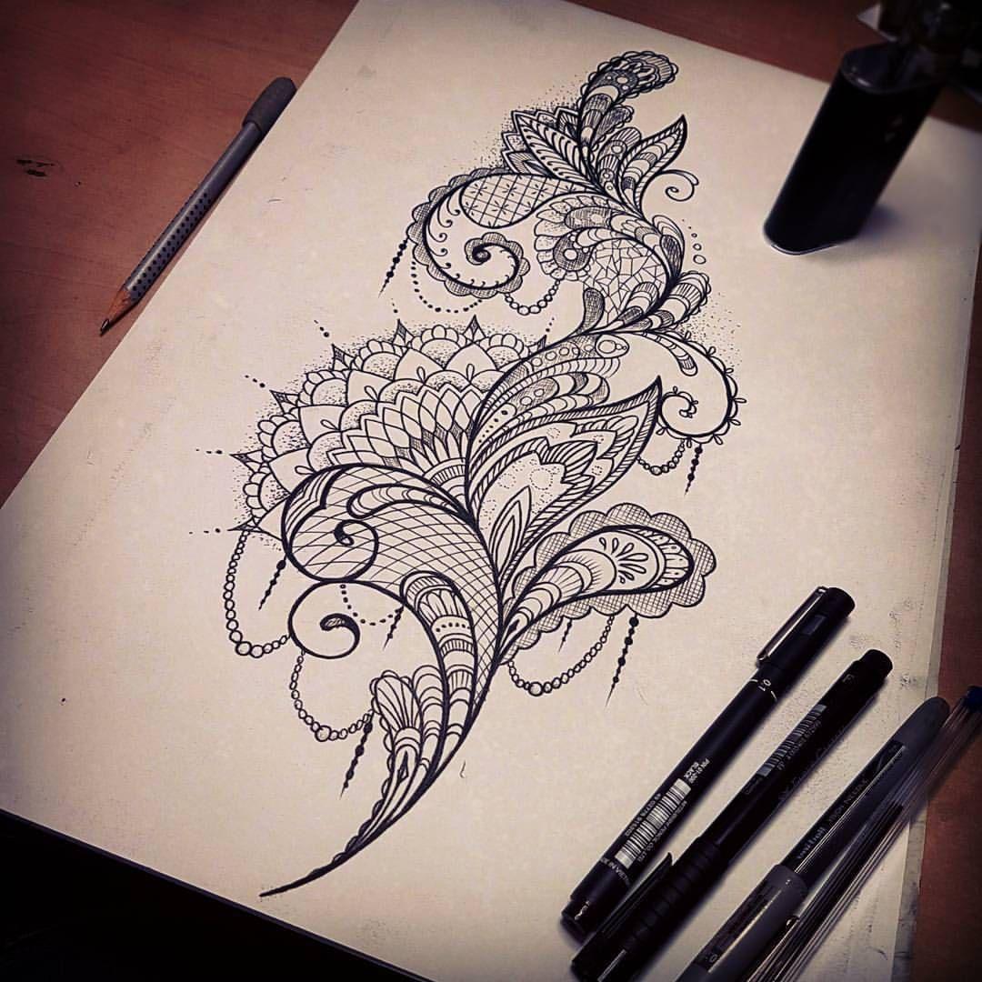 59 Likes 3 Comments Dzeraldas Jerry Kudrevicius Atlantic Coast Tattoo On Instagram Mandala Mandalat Lace Tattoo Design Pattern Tattoo Feather Tattoos