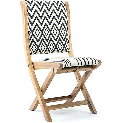 Superbe Folding Dining Chair Conveinently Foldable Rubberwood Outdoor Indoor