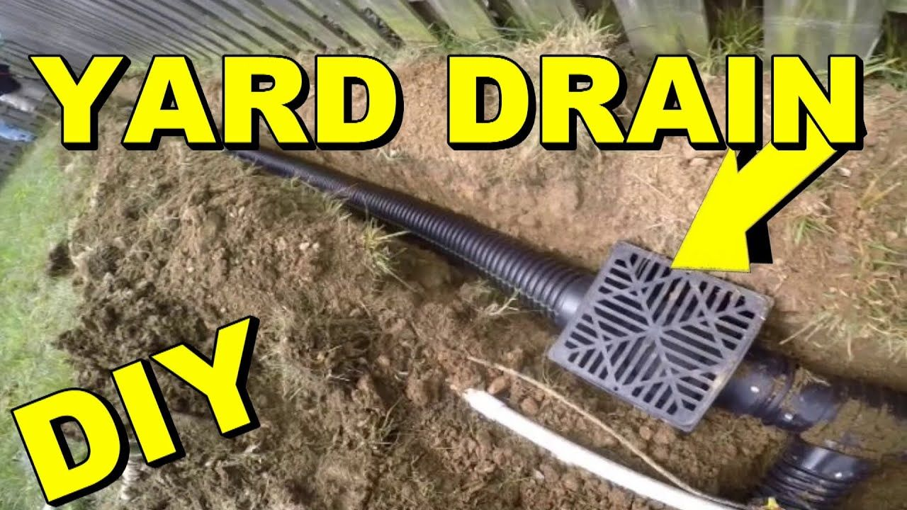 Yard Drain, French Drain, Do it Yourself Project | Yard ...