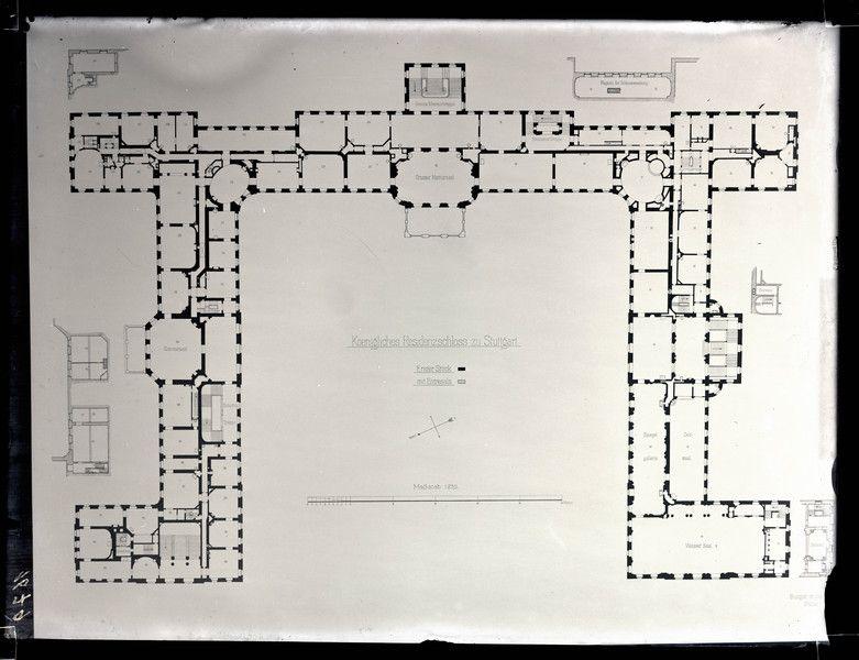 Neues Schloß; Grundriß des 1. Stocks Famous floor plans