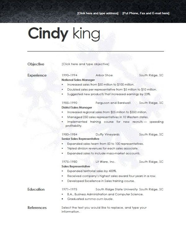 Cv Template Open Office Cvtemplate