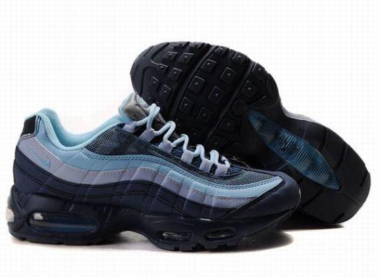 info for 15a90 0ce0c Homme Baskets Nike Air Max 95 Bleu Noir DSG533