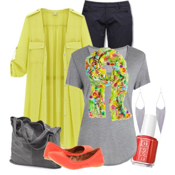 """Yellow Trench Coat"" by ljjenness on Polyvore"