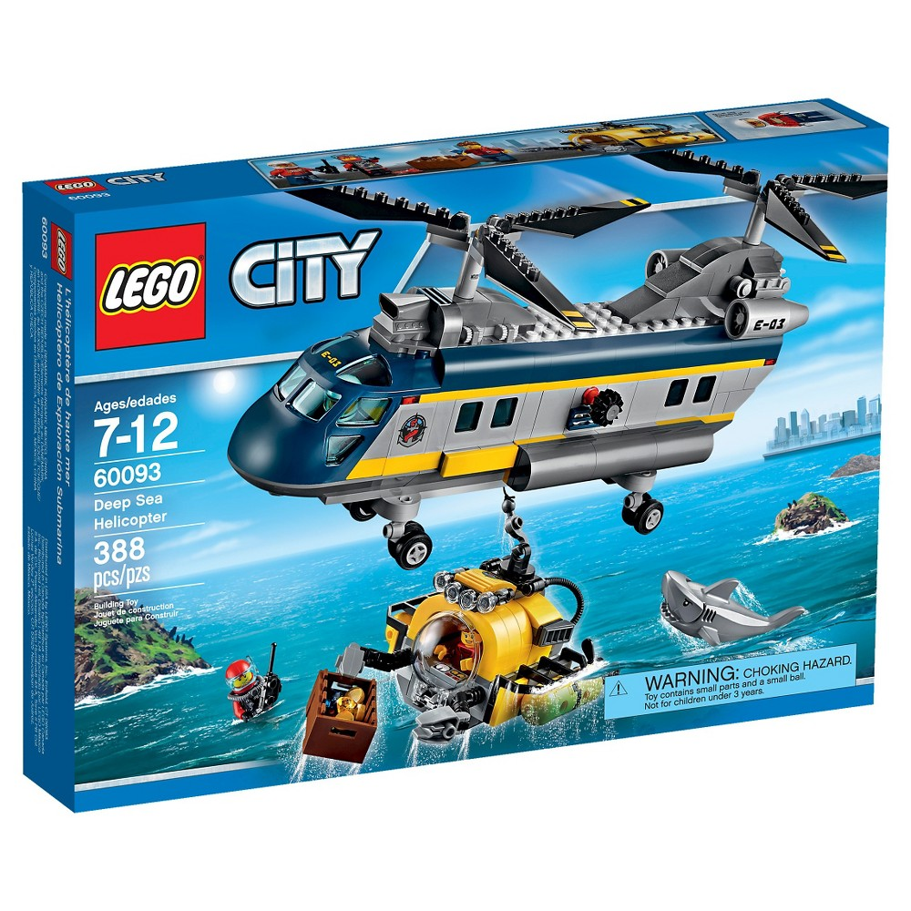 Lego City Deep Sea Explorers Deep Sea Helicopter 60093 Rescue The Stricken Divers With The Deep Sea Helicopter The Lego City Sea Explorer Lego City Helicopter