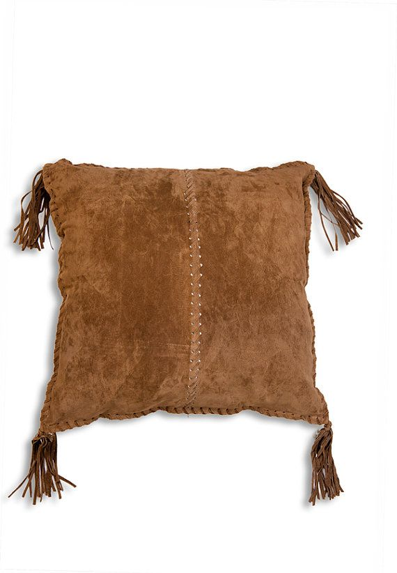 Leather pillow southwestern pillow in genuine by WestDepartment