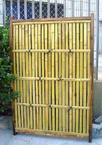 Bamboo Shadowbox Fence Garden Arbor In 2019 Bamboo