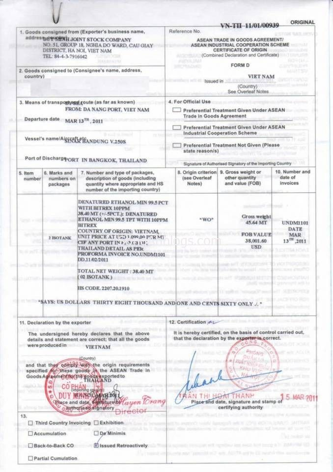 co-form-d-003 C O Pinterest - certificate of origin forms