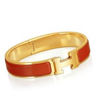 Enamel Clic H Narrow Bangle Bracelet