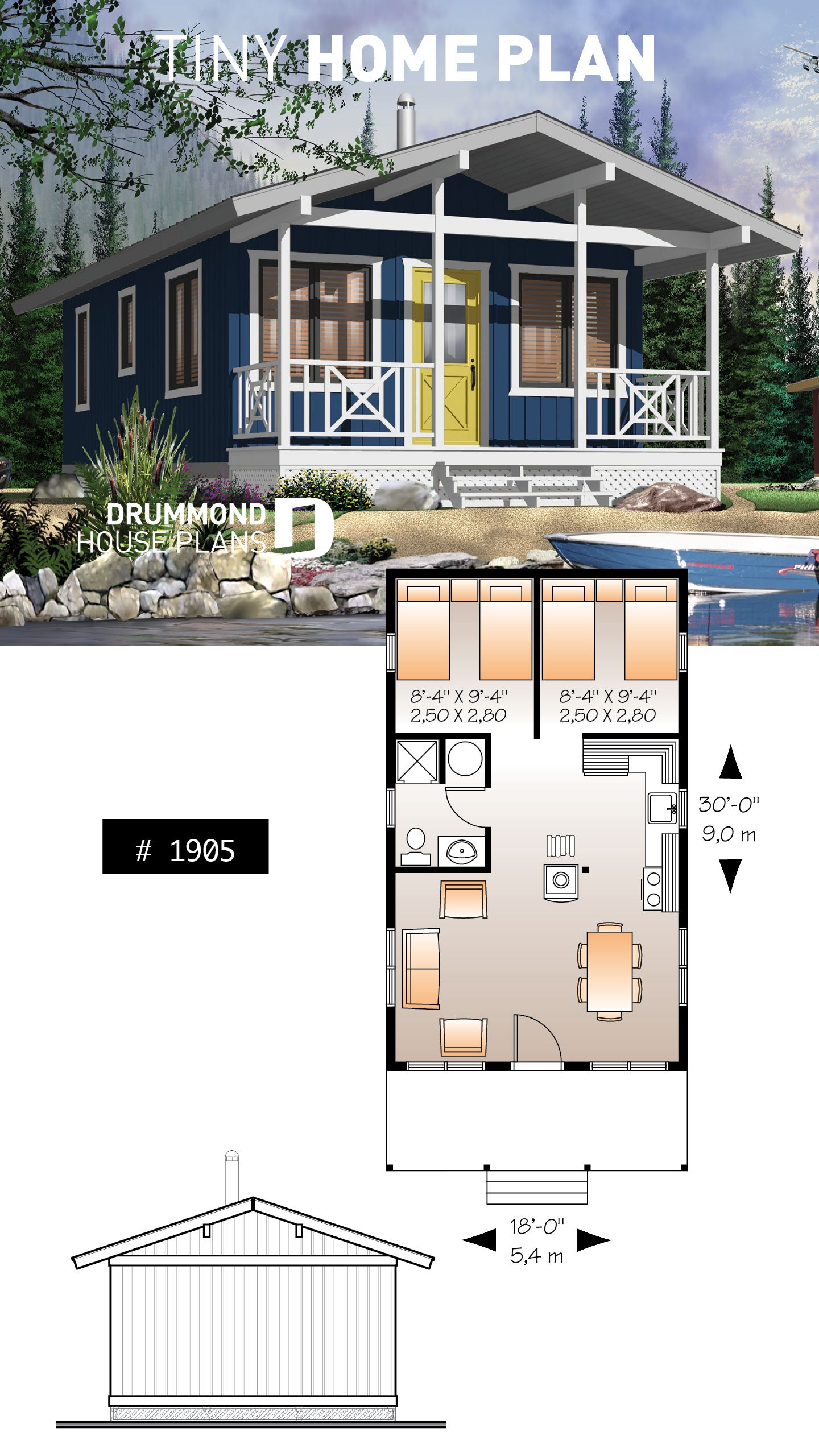 Discover The Plan 1905 Kingfisher Which Will Please You For Its 2 Bedrooms And For Its Cottage Chalet Cabin Styles Sims House Plans House Layouts House Plans