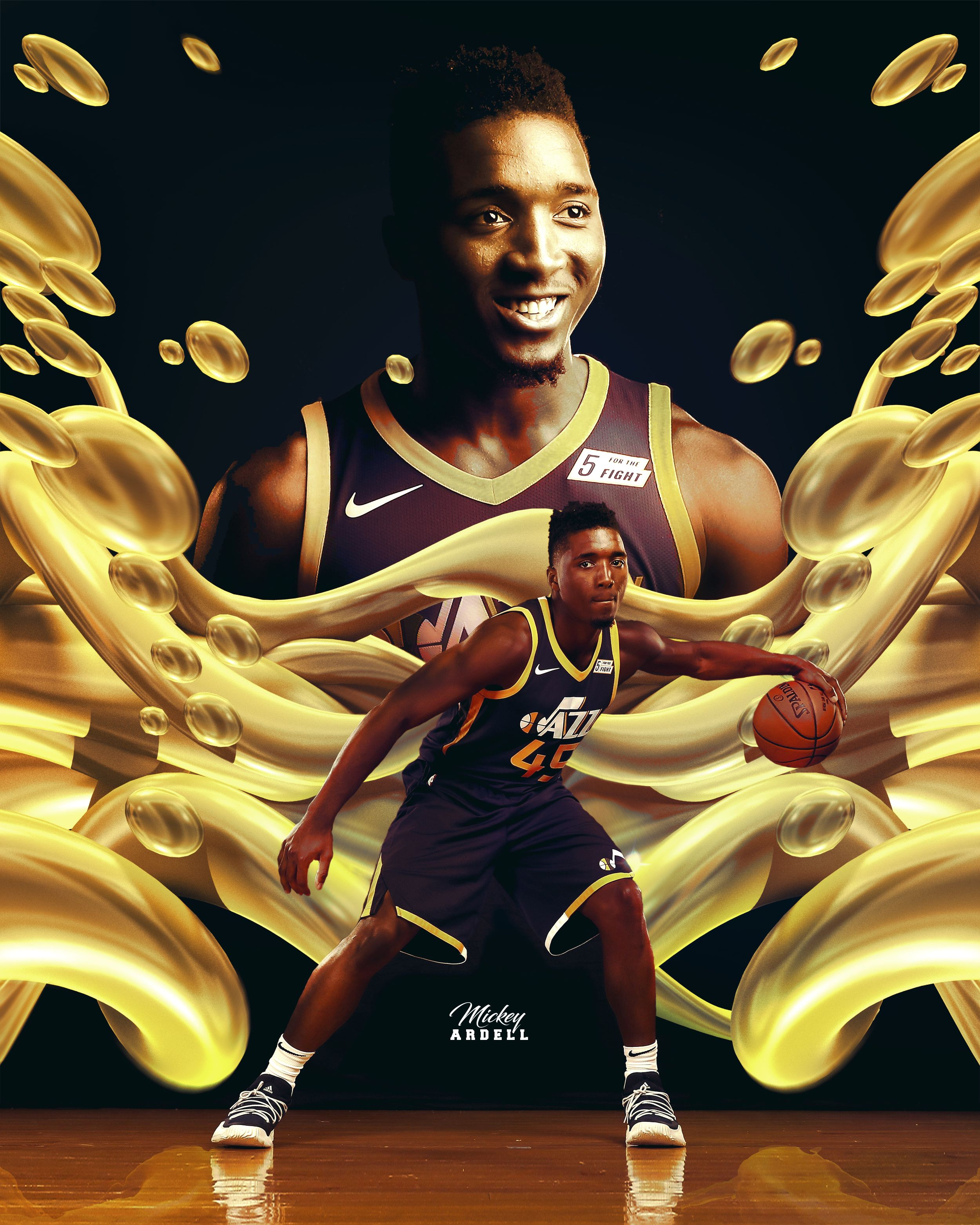 the latest e2a68 e96e4 Donovan Mitchell Utah Jazz NBA Art #wmcskills | For my Ian ...