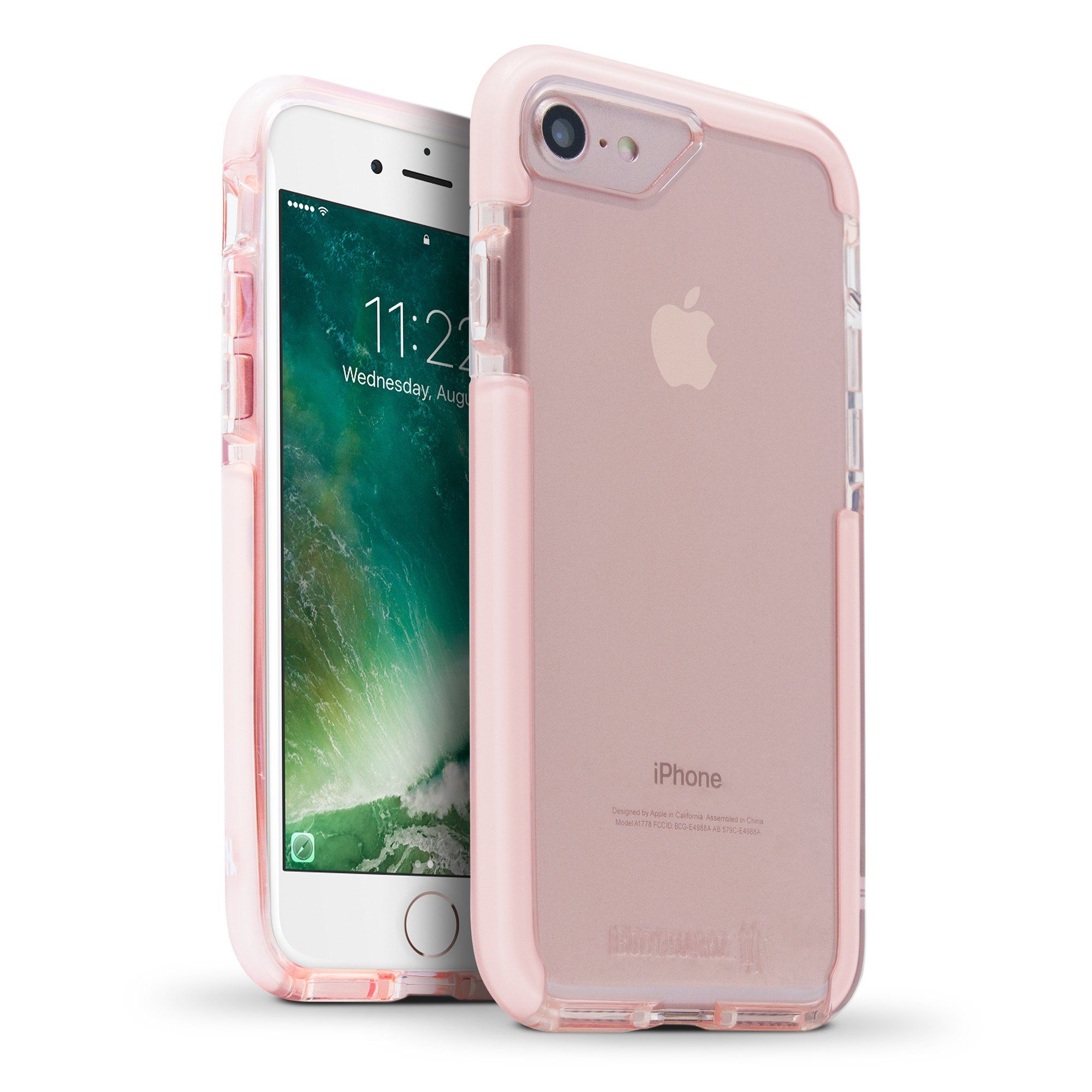800ffb8cdf4 BodyGuardz - Ace Pro Case, Extreme Impact and Scratch Protection for iPhone  7 (Pink