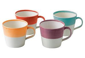 One Kings Lane - The Total Table - S/4 Bright Mugs