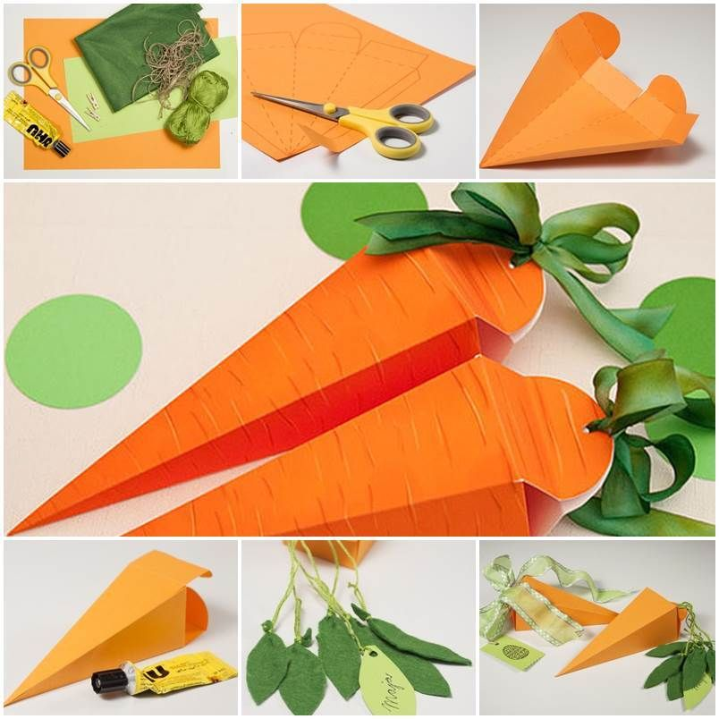 Diy cute carrot shaped gift box creative gifts box and creative diy cute carrot shaped gift box negle Gallery