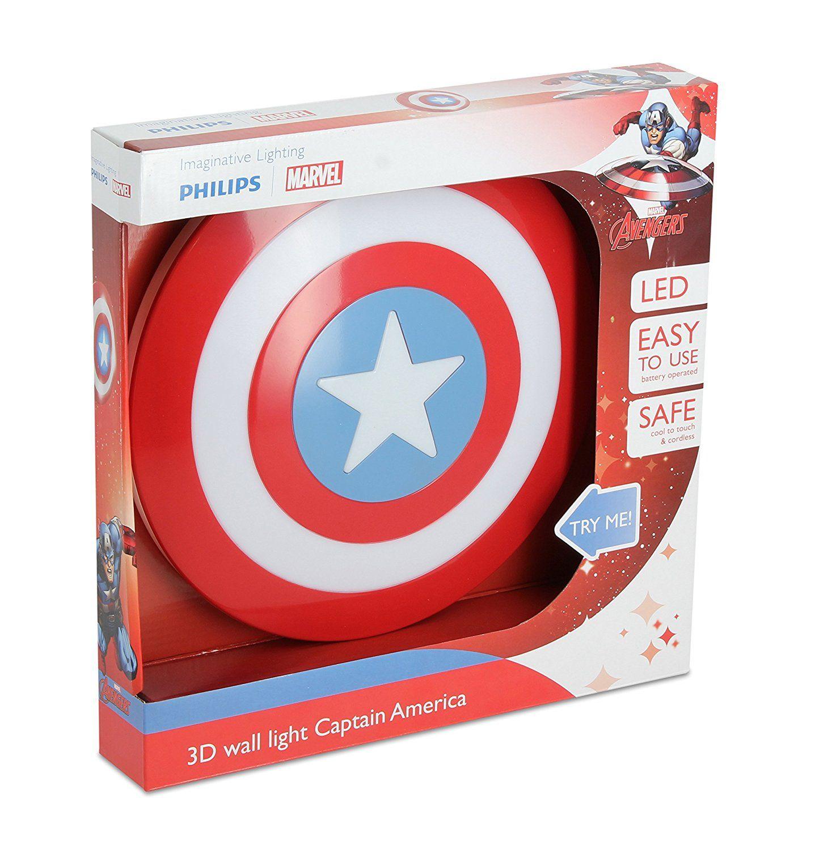 Philips Marvel Captain America Wandleuchte 3d Rot