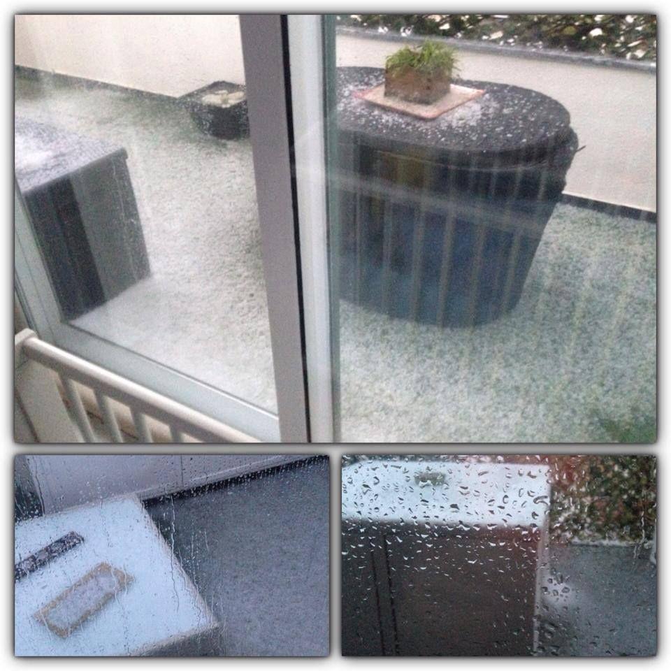 """O exterior da casa de Isabel Figueira: """"Bom dia!! ❄️❄️❄️"""""""