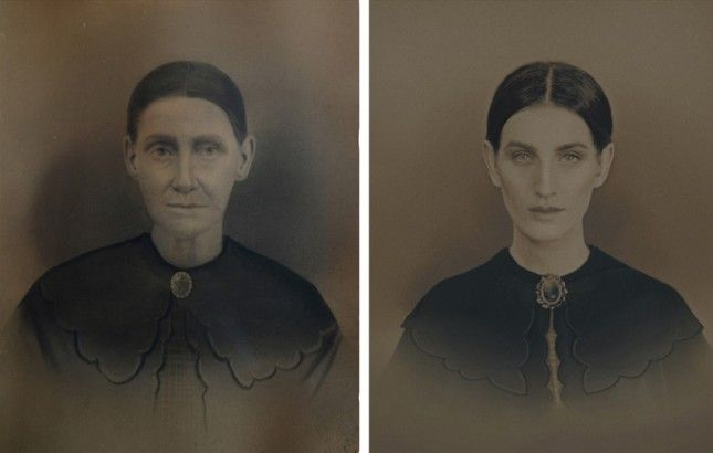 This Woman Replicated 7 Generations of Family Photos