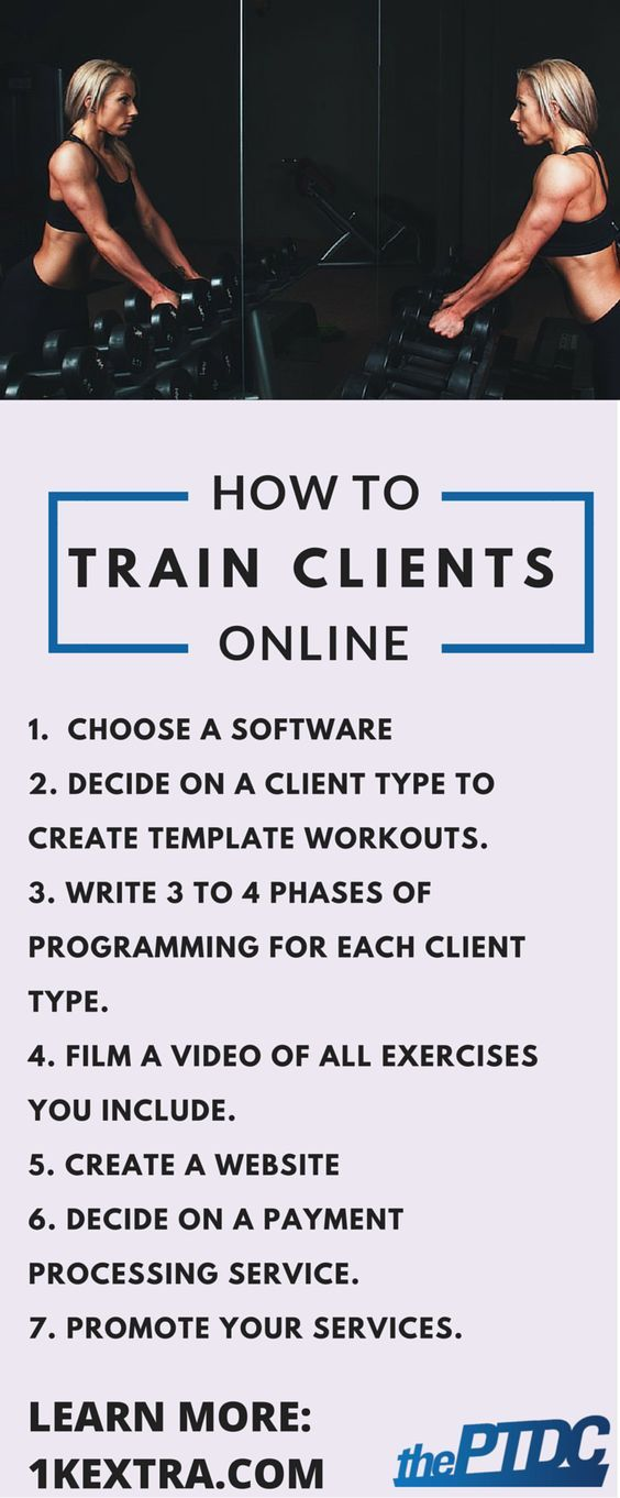 How To Train Clients Online Personal Training Theptdc