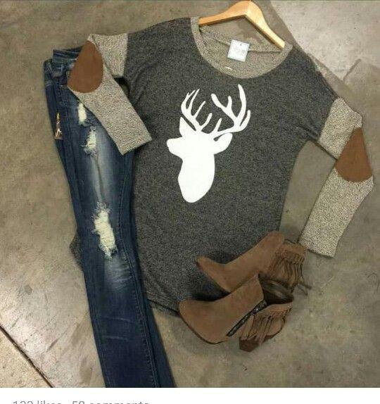 Reindeer sweater love!