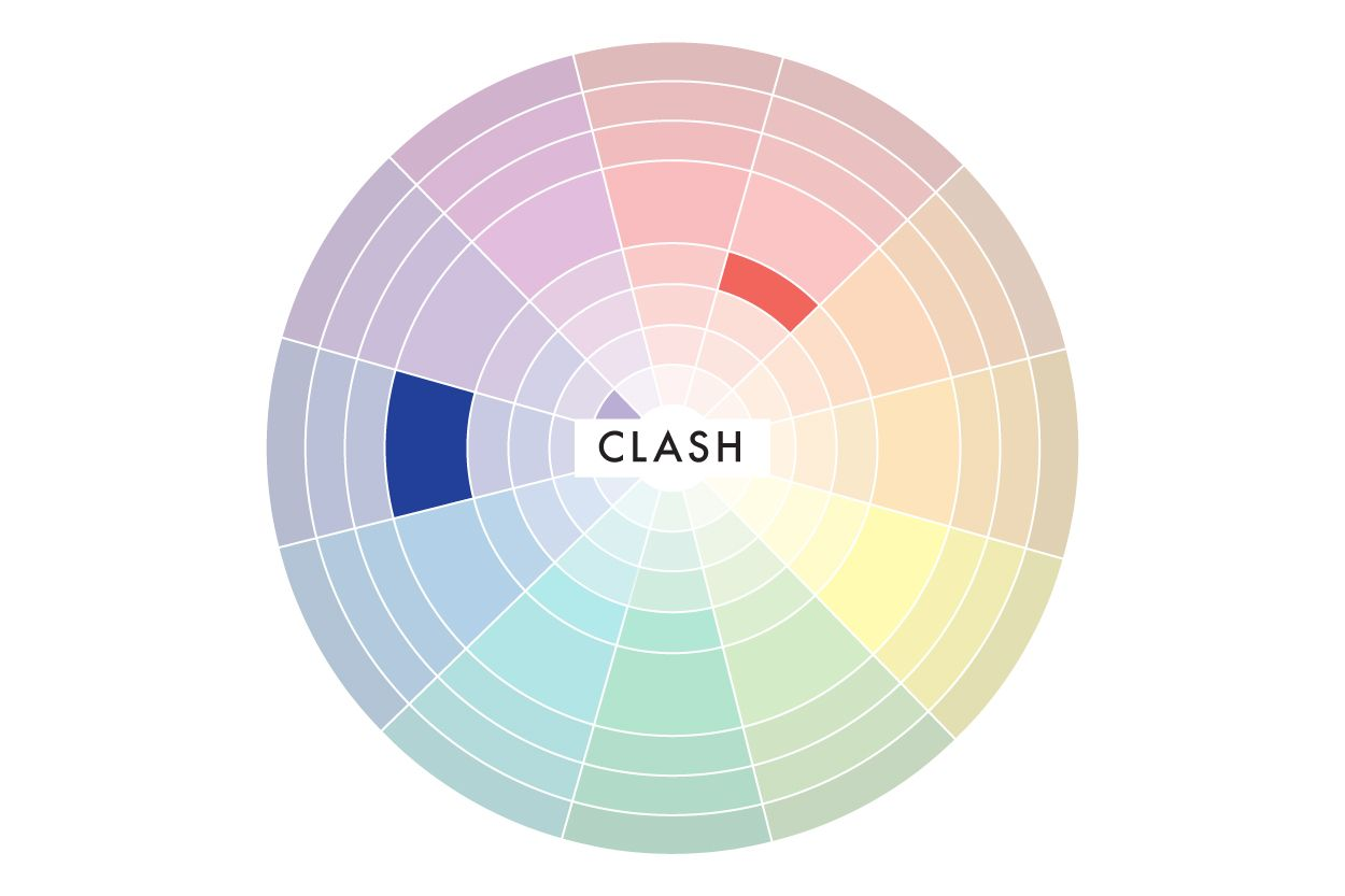 Clash Color Schemes Pair A First With Second To The Left Or Right Of Its Wheel Compliment Colors Are VERY Bold And Have High Contrast