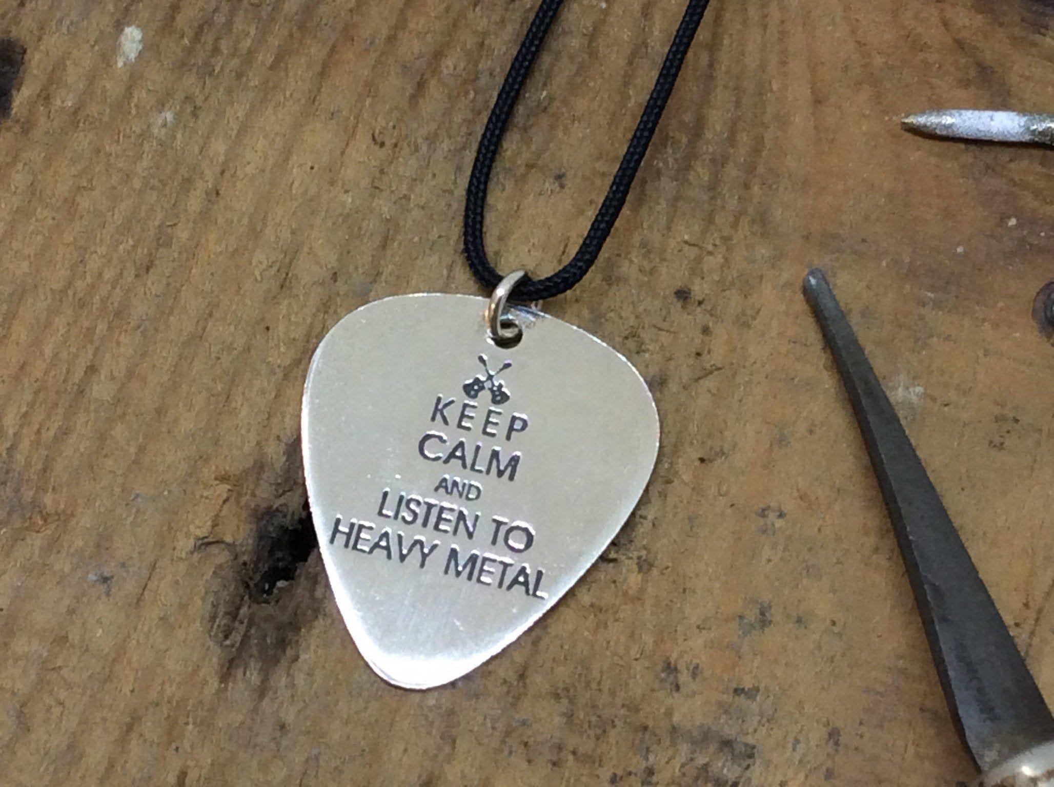 Custom guitar pick,Keep calm guitar pick necklace for men,Music teacher gift,Long distance boyfriend gift,Unique handmade jewelry gift #customguitars