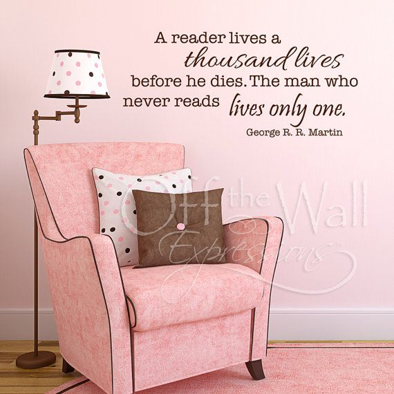 A Reader Lives a Thousand Lives wall words by OffTheWallExpression, $21.60