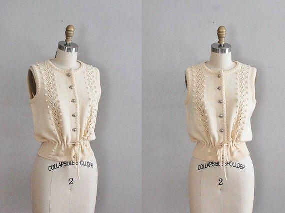 from Dear Golden Vintage-  the loveliest vest.