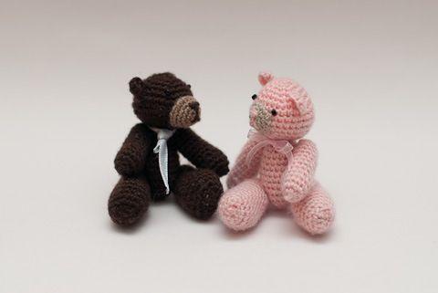 Free Crochet Pattern Tiny Jointed Thread Teddy Bears Free