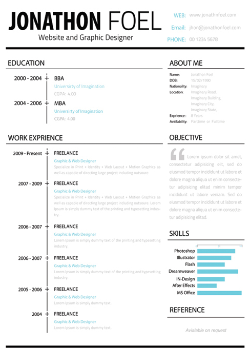 new resume format for job searching