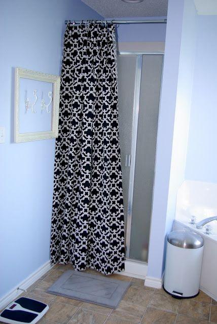 Hide Ugly Shower Doors Bathroom Pinterest Shower