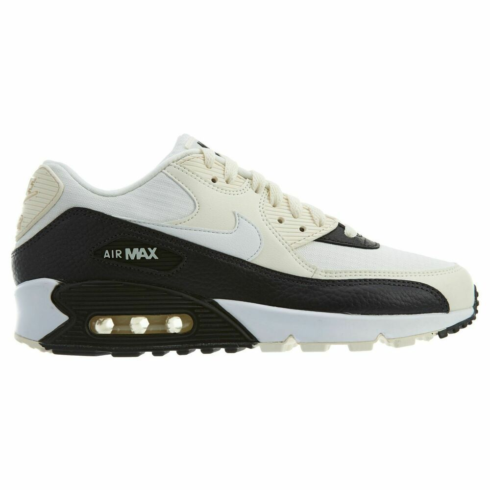 Nike Air Max 90 Womens 325213 138 Pale Ivory White Black
