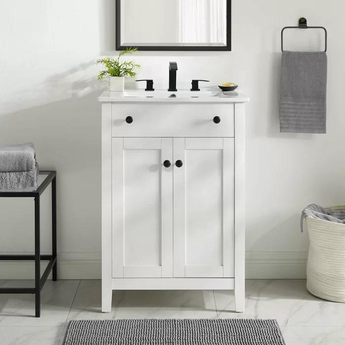 Ekanta 24 Single Bathroom Vanity Set In 2020 24 Bathroom Vanity Small Bathroom Vanities 24 Inch Bathroom Vanity