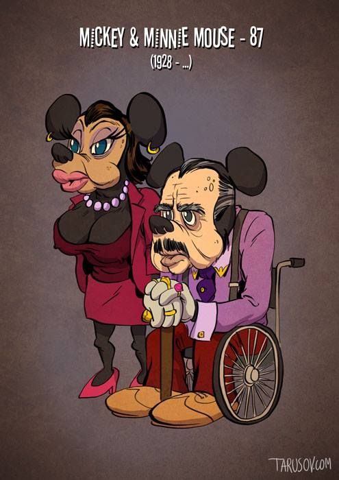 Personagens De Desenho Animado Na Terceira Idade Com Imagens
