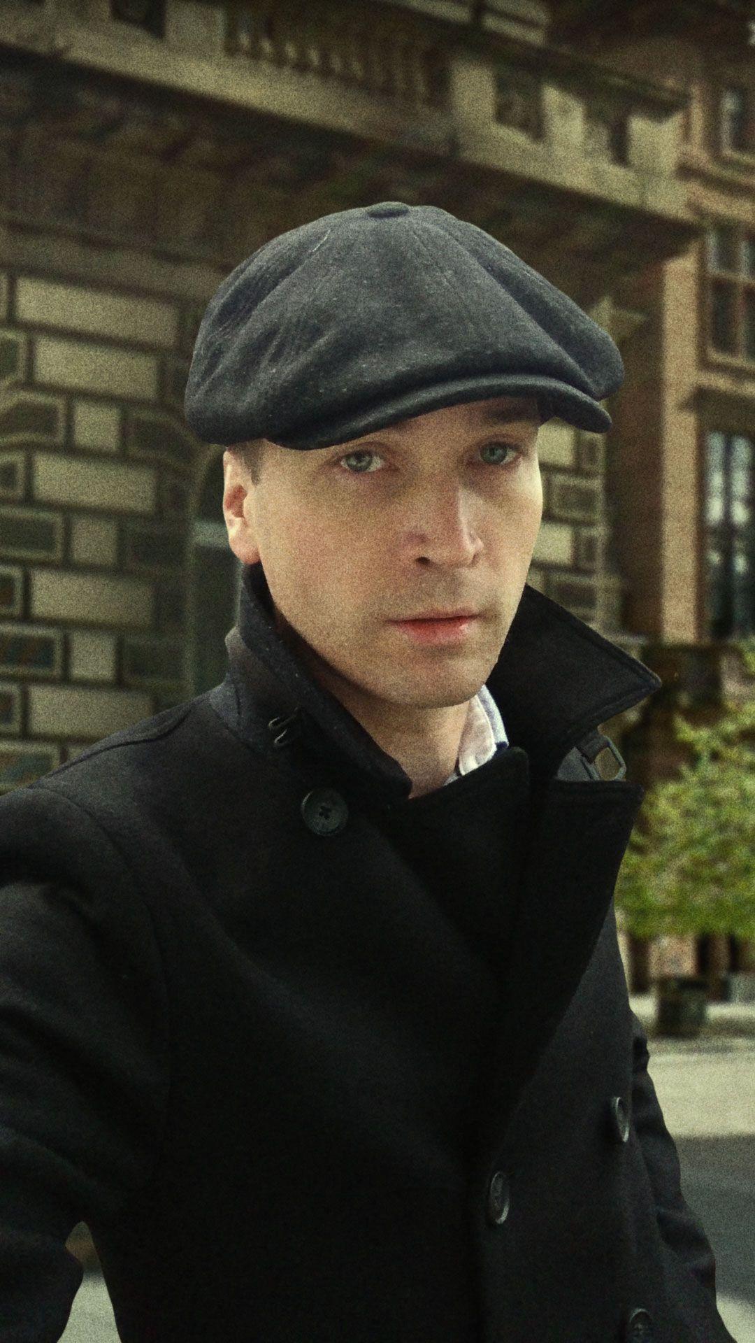 7bbd583b78000 Peaky Blinders style with baker boy cap in Glasgow
