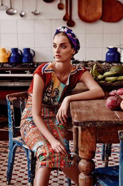 Foulard vintage comment le porter ? Idées de mode