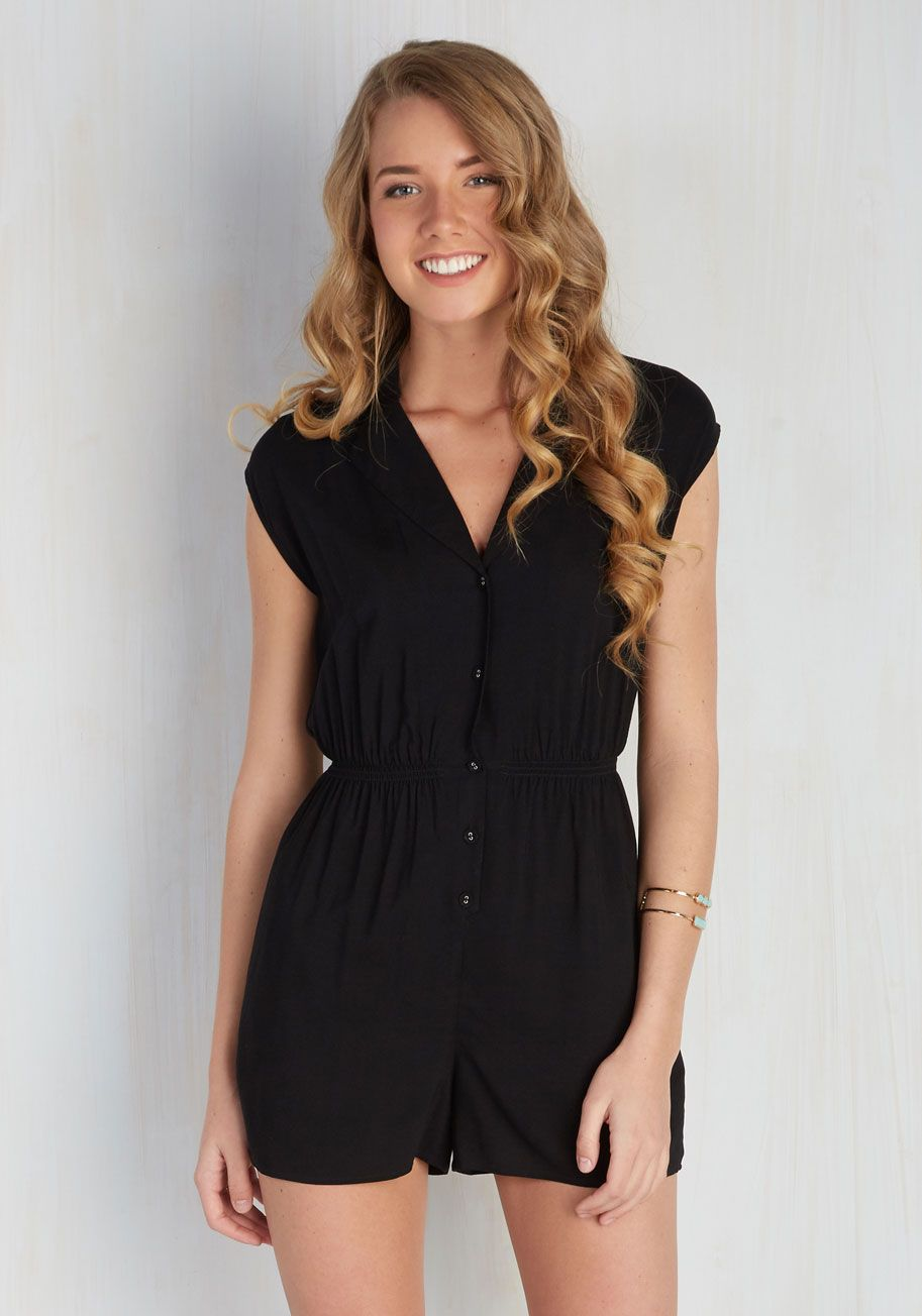 Read it and steep romper in garden modcloth black and clothing