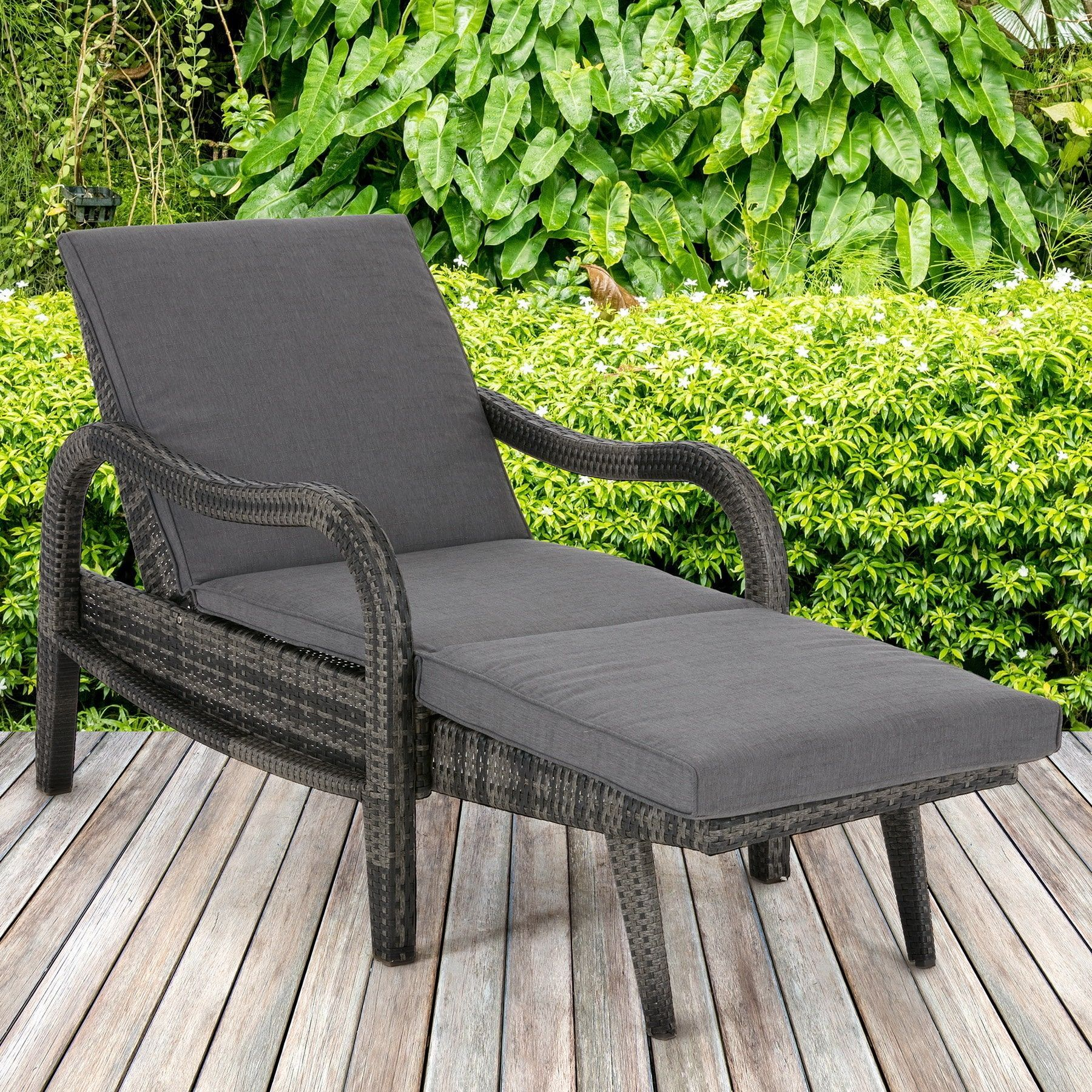 Stupendous Madison Park Camden Dark Grey Outdoor Lounge Convertible To Creativecarmelina Interior Chair Design Creativecarmelinacom
