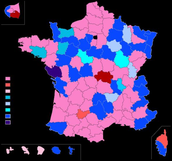 resultat election carte de france Carte des résultats des élections municipales 2008 | Carte, Élections