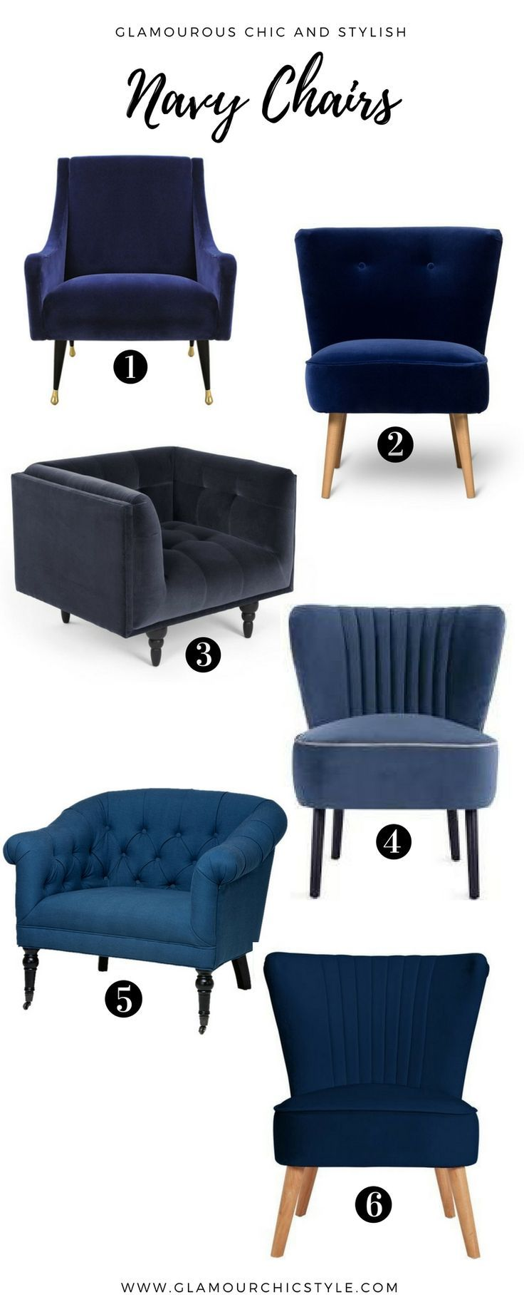 Navy Blue Chairs Inspiration And Ideas For Transforming Your Living Space.  Want To Know Where