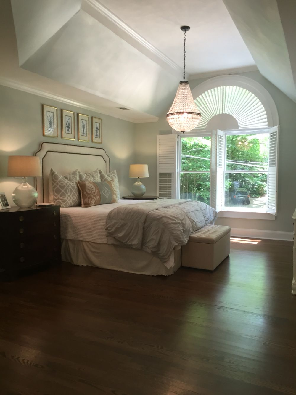 Best Master Bedroom With Trey Ceilings And Big Window Light 400 x 300