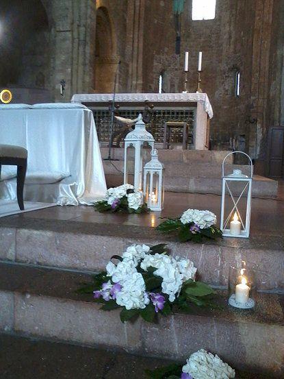 Addobbi chiesa matrimonio con candele cerca con google dekoracje lubne pinterest - Candele per esterno ...