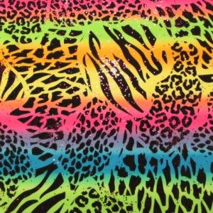 Rainbow Animal Print Fabric