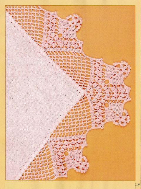 Croche ( barrados e cantos) nº01 - Elisiane Severo - Picasa Web Albums