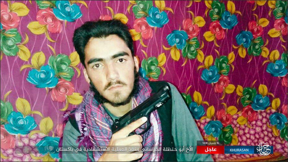 IS branch in #AfPak broadcast a portrait of Abu Hanzala al-Khurasani, - kamikaze of #Quetta #Pakistan.