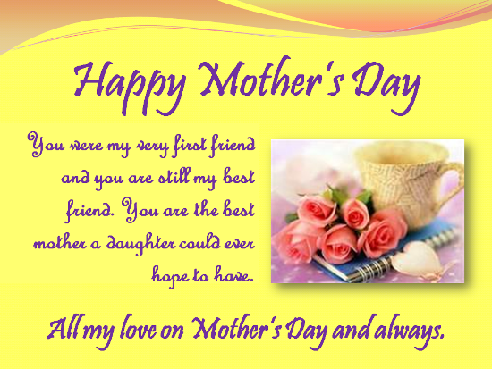 Happy Mother S Day To My Best Friend Birthday Wishes For Mom Happy Birthday Mom Images Happy Birthday Mom